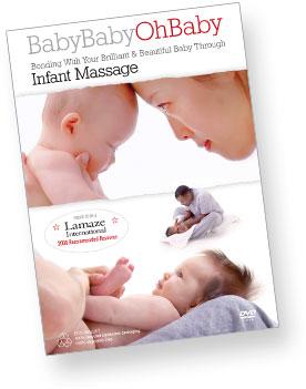 An infant being massaged